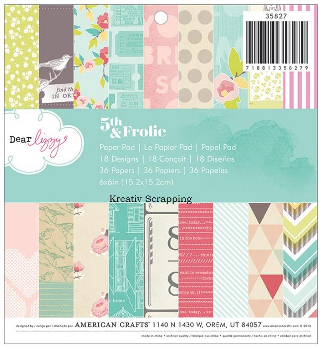 american crafts   dear lizzy   5th amp frolic   paper pad