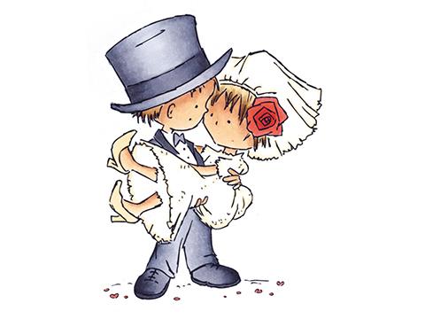 ordsprog bryllup kort over Bonbonland